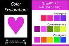 Eva Maria Keiser Designs: Explore Color:  Steel Pink