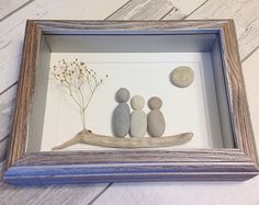 Fish Family Pebble Art Gift Custom Pebble Art Personalised