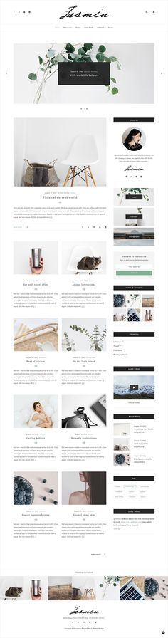 Jasmin is a modern, clean, minimal #Blog #PSD #template for creative writer and bloggers website with 10+ beautiful post styles download now➩ https://themeforest.net/item/jasmin-personal-blogging-blog-psd-template/17527040?ref=Datasata