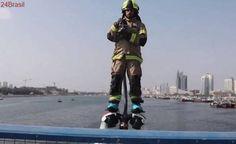 Bombeiros usam a tecnologia para apagar incêndios