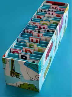 Craft Storage Box, Craft Box, Kids Library, Bookshelves Kids, Art N Craft, Cardboard Crafts, Artist Trading Cards, Handmade Books, Book Making