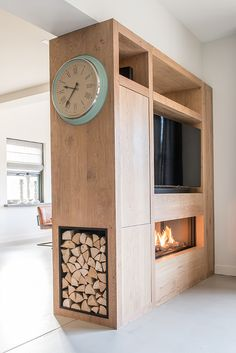 Home - NB Interieurwerken Tv Stand Room Divider, Tv Wanddekor, Tv Wall Decor, Home Board, Home Studio, Drawing Room, Bedroom Inspo, Studio Apartment, Wall Colors