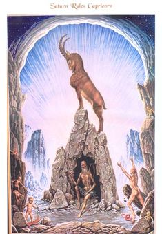 """Johfra Bosschart Capricorn -Saturn is the planet of limitation, fear, contraction, time, structure, karma, law, old age, tests, discipline, responsibility, ambition and Satan. Capricorn is the cardinal earth sign; and its keyword is """"I use."""" It rules the skin, bones and knees in the human body. Humility is an important test for Capricorn, and in order to be humble the knees must bend."""