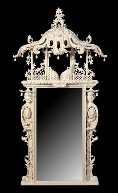 A fine pair of Claydon House design mirrors | From a unique collection of antique and modern pier mirrors and console mirrors at http://www.1stdibs.com/furniture/mirrors/pier-mirrors-console-mirrors/
