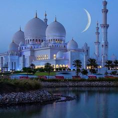 Amazing view by night at Sheikh Zayed Mosque in Abu Dhabi United Arab Emirates. Courtesy of Amazing view by night at Sheikh Zayed Mosque in Abu Dhabi United Arab Emirates. Courtesy of . Abu Dhabi, Mosque Architecture, Amazing Architecture, Gothic Architecture, Ancient Architecture, Architecture Wallpaper, Beautiful Mosques, Beautiful Places, Beautiful Life