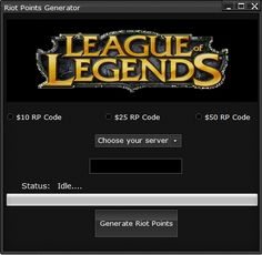 DOWNLOAD Link: http://crazyhotgameparad1se.blogspot.com/2016/01/league-of-legends-riot-points-generator.html League of Legends Riot Points Generator will allow you to get unlimited free Riot Points. When you get this generator, you will have FREE RIOT POINTS! Extra Tags: league of legends riot points generator, league of legends riot points generator no survey, league of legends riot points generator download, league of legends riot points generator unlimited rp adder