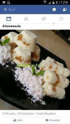 PUTU BAMBU Indonesian Desserts, Indonesian Cuisine, Indonesian Recipes, Asian Snacks, Asian Desserts, Snack Recipes, Dessert Recipes, Cooking Recipes, Traditional Cakes