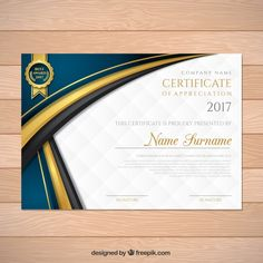 Elegant graduation certificate with wavy forms Free Vector Certificate Border, Certificate Background, Certificate Of Achievement Template, Certificate Design Template, Award Certificates, Art Business Cards, Business Card Design, Business Flyer, Laura Lee