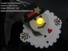stampin up christmas gift ideas | Stamptastic Designs: Tea Light Snowman Ornament