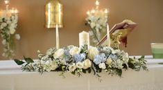 Grange Church Sligo - Wedding Flowers by Feehily's Florist Love Flowers, Wedding Flowers, Wedding Inspiration, Candles, Table Decorations, Church Weddings, Beautiful, Mary, Home Decor