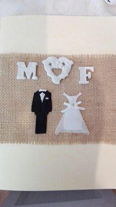 Biglietto auguri matrimonio. Personalizzato fatto a mano. Hand made