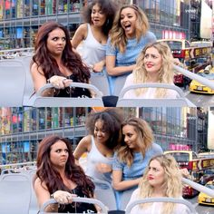 Jade and Leigh : OMG that was so funny  Jesy and Perrie : They're crazy