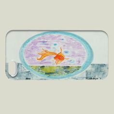 Fun Indie Art from BoomBoomPrints.com! https://www.boomboomprints.com/Product/pabloontaneda/My_goldfish/iPhone_Cases/iPhone_5_Slim_Case/