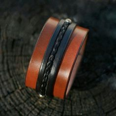 Horsehair and Leather Cuff by TheSugarLady on Etsy, $85.00