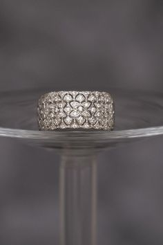 925 Sterling Silver Ring Pave Cubic Band