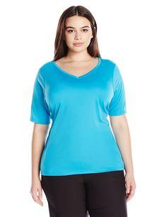 71842efd2ab7f Women s Plus Size Solid UPF 50+ Swim Shirt Rashguard - Aqua - CT12BXYY92X