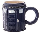 Novelty Ceramic Police Box Mug Doctor Who Style Tea Coffee Cup New Gift Idea