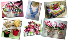 Aprenda como fazer 15 modelos lindos e diferentes de flores de fuxico, tudo passo a passo com fotos de qualidade.