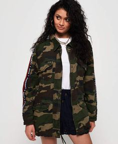532d0e970ad11 Lilith Oversized Rookie Shacket Superdry, Jean Shorts, Joggers, Military  Jacket, Polo Shirt
