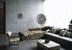 A World War II bunker turned into a penthouse apartment.      Photography: Tim Brotherton & Katie Lock, via The City Sage