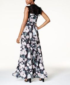 Fame and Partners Floral-Print Gown - Twilight Floral 10