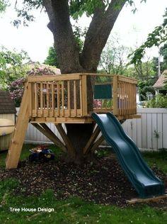 Stylish 47 Charming Backyard Garden Playground Design Ideas To Try Playground Design, Backyard Playground, Backyard For Kids, Backyard Projects, Outdoor Projects, Diy Projects, Backyard Trees, Backyard Treehouse, Backyard Fort