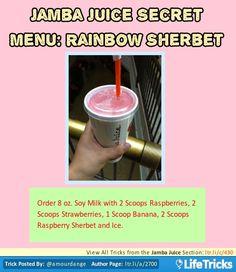 Jamba Juice Secret Menu: Rainbow Sherbet