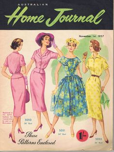 Dress Patterns 1957  Australian Home Journal by GrannysTreasure