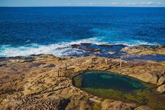 Sydney - Coogee to Maroubra Coastal Walk. The Ivor Rowe Rockpool is a small, natural ocean pool. Surprisingly, it seems to be mostly ignored by locals, which means there are good chances that you can have it all for yourself. Just be careful, as the rocks in and around the pool may be slippery, and keep an eye on the tide, because the pool gets completely covered when the high tide comes. Sydney Photography, Rock Pools, High Tide, The Rock, Coastal, Rocks, Backpack, Nerd, Ocean