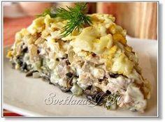 """Салат Орландо Рецепт этого салатика я очень давно нашла на каком то сайте . Там он был заявлен, как фирменный салат минского ресторана """"Орландо"""". Делаю его"""
