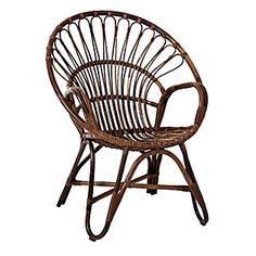 Hennie Chair | Serena & Lily, in sitting room or on entry, with cushion, or possibly on back porch