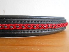 Items similar to Browband with Red Macrame Decor, Hand Stiched Black Browband for Horse Bridle on Etsy Horse Bridle, My Works, Macrame, Hands, Horses, Red, Leather, Black, Decor