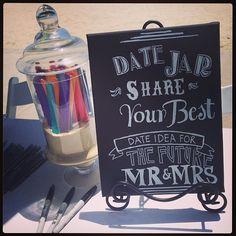 love the date jar idea!! #bridalshower #sandiegowedding #sandiego #missionbay #datejar
