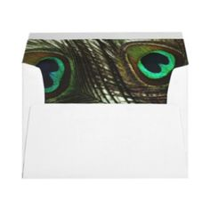 Peacock Feather Envelopes