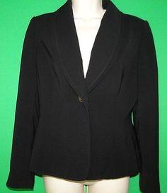 Tahari Jacket Womens Black 1 Button LS Size 6P Arthur S. Levine - Petite EUC