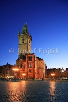 Old Town Hall Tower, Old Town Square, Prague, Czech Republic