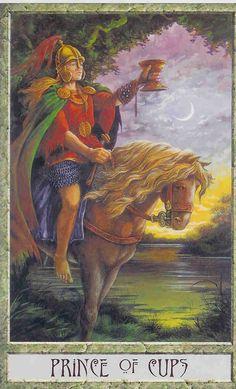 Prince of Cups - Druidcraft tarot by Stephanie Carr-Gomm, Philip Carr-Gomm, Will Worthington