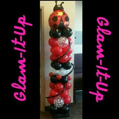 Close up column. Balloon Art by Glam-It-Up Exclusive Designs