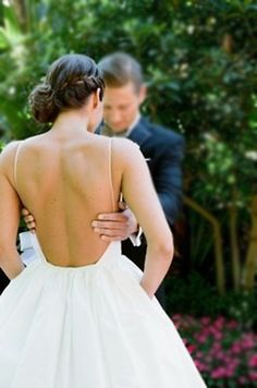 Backless wedding gown low back bride bridal cute perfect open back statement sexy wedding dress