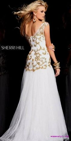 Nice white sherri hill prom dresses 2018/2019 Check more at http://24myfashion.com/2016/white-sherri-hill-prom-dresses-20182019/