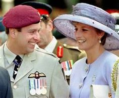 Prince Andrew and Diana