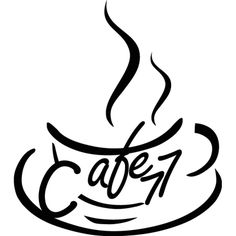 #Vinilo para #cafeteria con taza de café