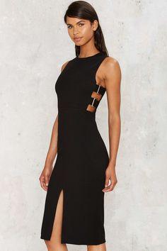 Buckle Down Cutout Dress - Nasty Gal