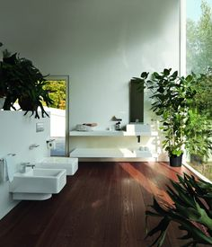 Perfekt sted å finne roen et stk vakkert Laufen bad Laufen Bathroom, Bathroom Sets, Decoration Design, Deco Design, Bathroom Inspiration, Contemporary, Modern, Sweet Home, Bathtub