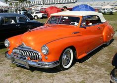 1948 Buick - pretty hard to miss this one coming down the highway - mild custom.
