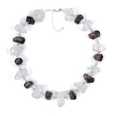 N025005* - Smoky and Clear Quartz Necklace