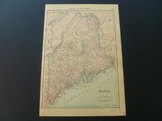 Old map of Vermont 1912 reverse small antique by DecorativeMaps, €9.95