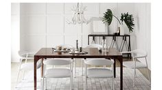 Modern furniture and home decor. Explore the latest looks from – and discover modern furniture that's sleek, chic, functional and comfortable. White Gloss Dining Table, Modern Dining Table, Dining Chairs, Dining Rooms, Wood Furniture, Furniture Design, Unique Furniture, Dining Room Design, Home Decor Trends