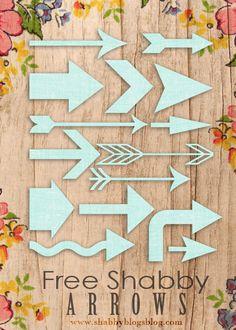 Free high resolution Shabby Arrows