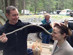 Amanda modeling Le Genuine Alaskan Dancing Snake